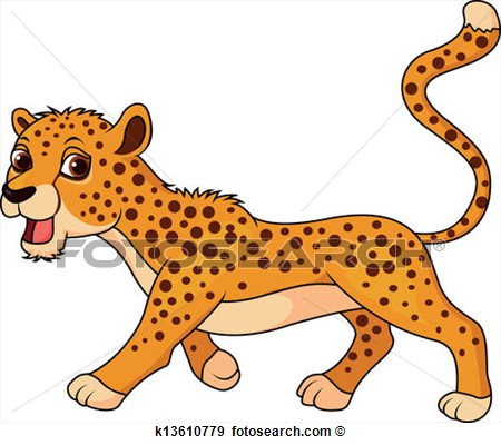 Cheetah clipart kid. Leopard pencil and in