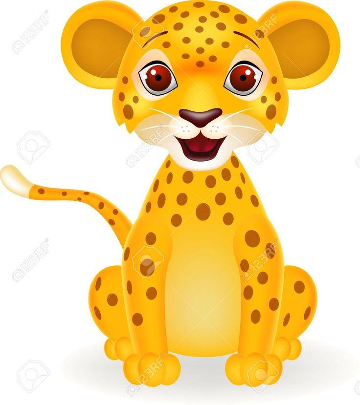 Cute leopard png transparent. Cheetah clipart kid