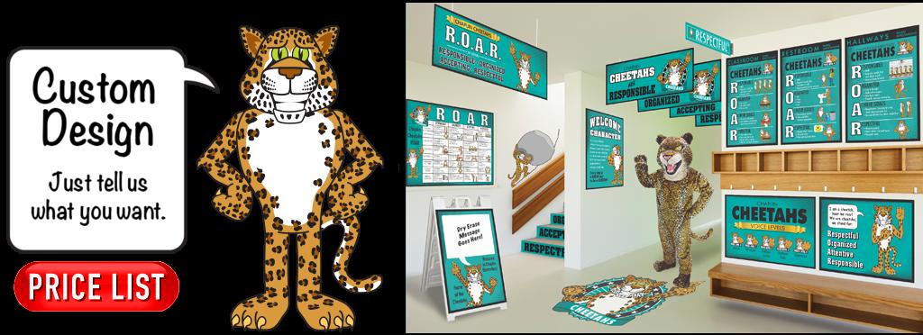 Mascot junction friendly mascots. Cheetah clipart kid