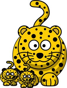 Facts for kids. Cheetah clipart kid