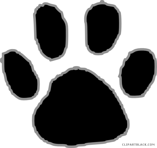 Clipart tiger angry. Paw print animal free