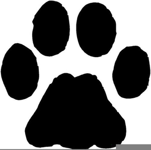 Free images at clker. Pawprint clipart cheetah