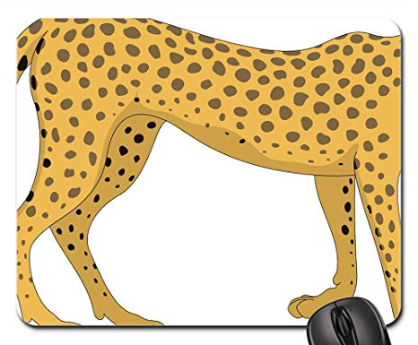 Cheetah clipart tail. Amazon com mouse pads