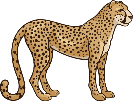 collection of high. Cheetah clipart transparent background