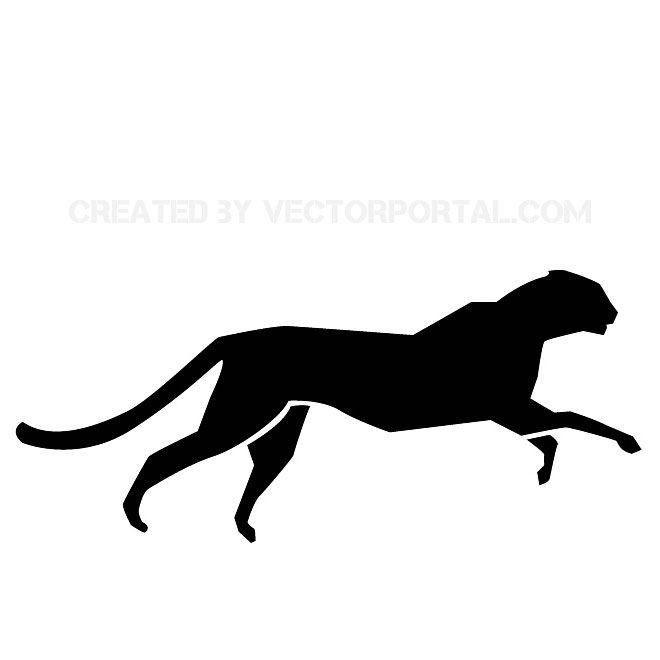Image free vectors in. Cheetah clipart vector