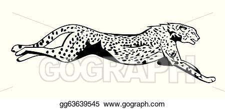 Cheetah clipart vector. Jump illustration gg gograph