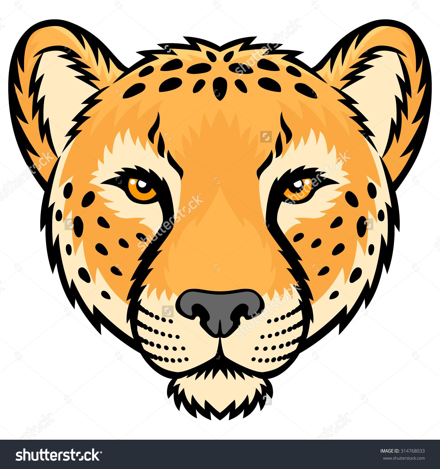 Head . Cheetah clipart vector