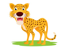 Cheetah clipart. Free clip art pictures