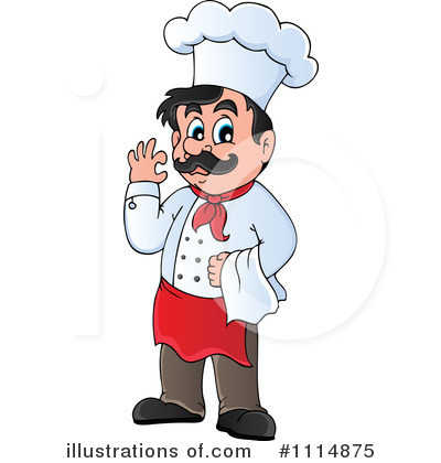 Chef clipart. Illustration by visekart royaltyfree