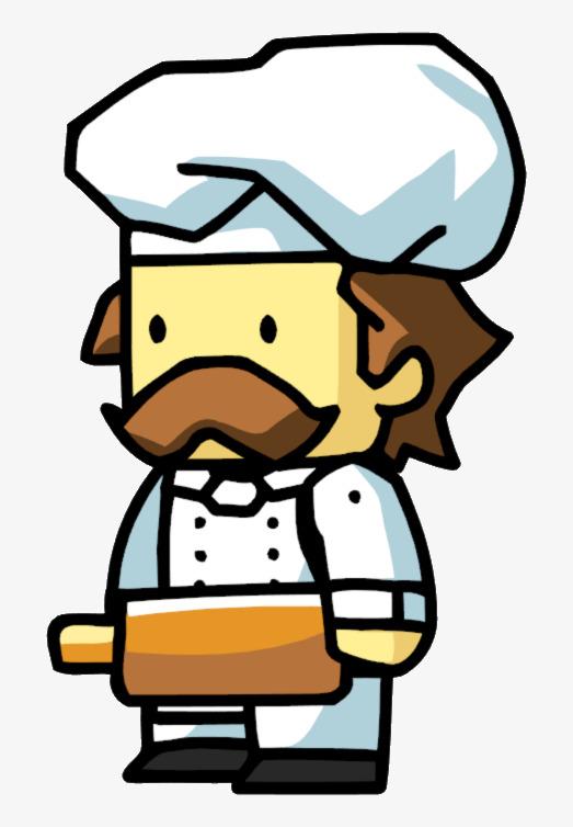 Pasta cartoon png image. Chef clipart baker