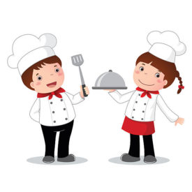 Chef clipart baking. February kids cook and