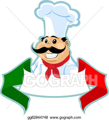 Cook label stock illustration. Cooking clipart chef italian