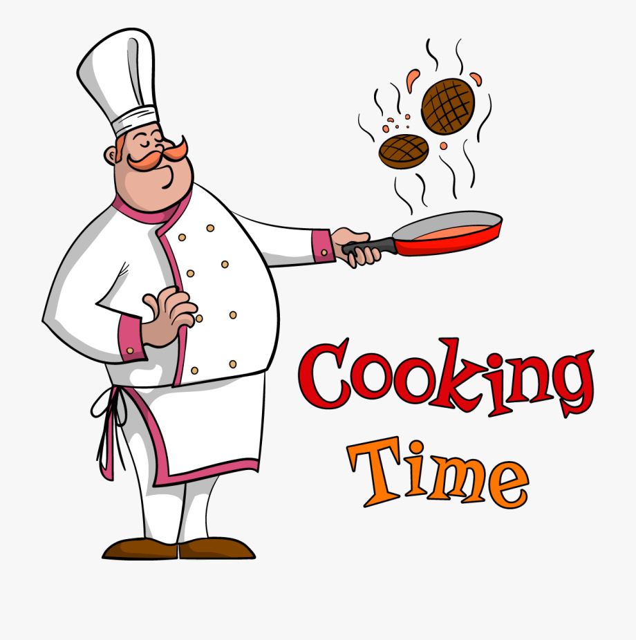 Food frying pan chef. Cooking clipart fry cook
