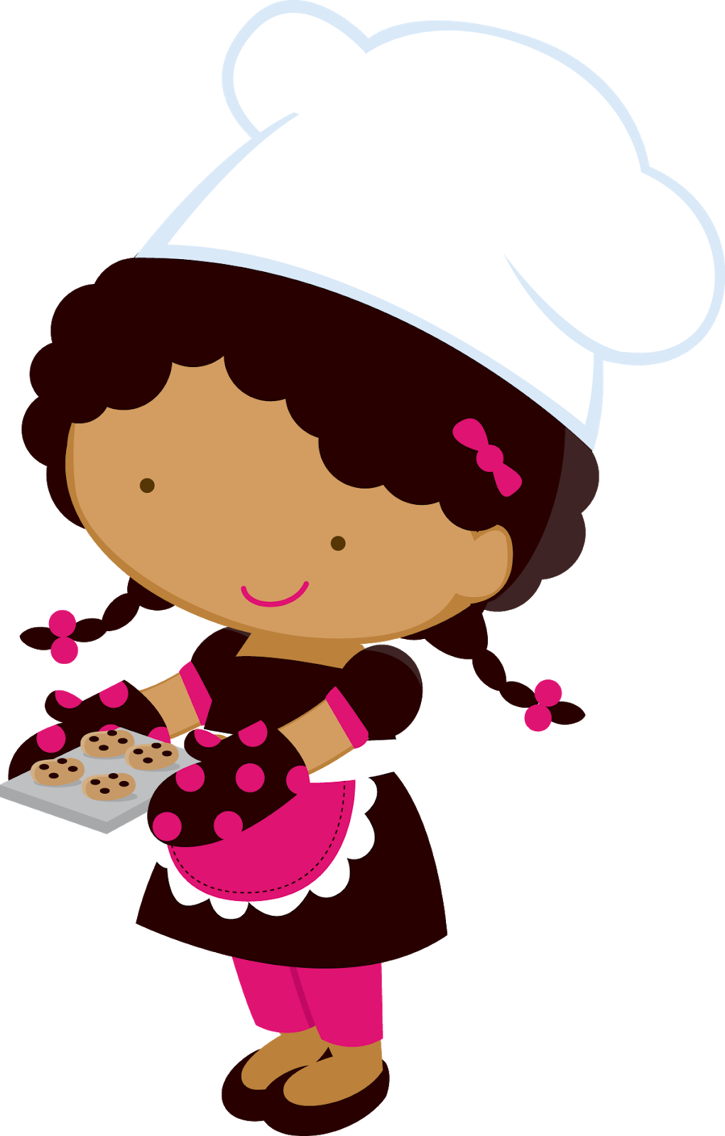 Moving clipart chef. Little girl chefs oh