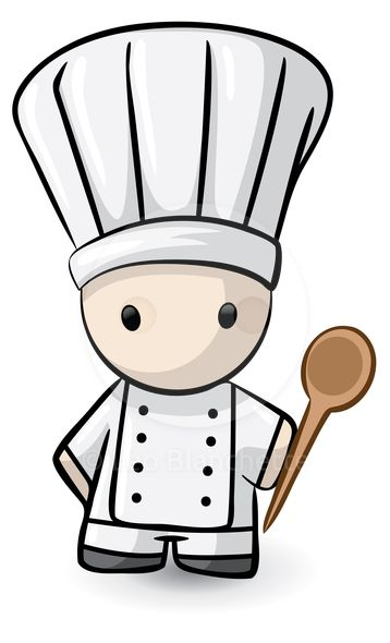 Illustration cute french inspired. Catering clipart chief cook