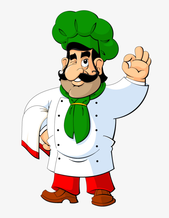 Cartoon green hat png. Chef clipart head chef