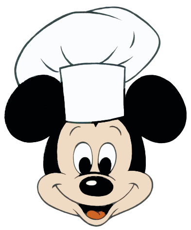 Chef clipart head chef. Mickey mouse disney pinterest