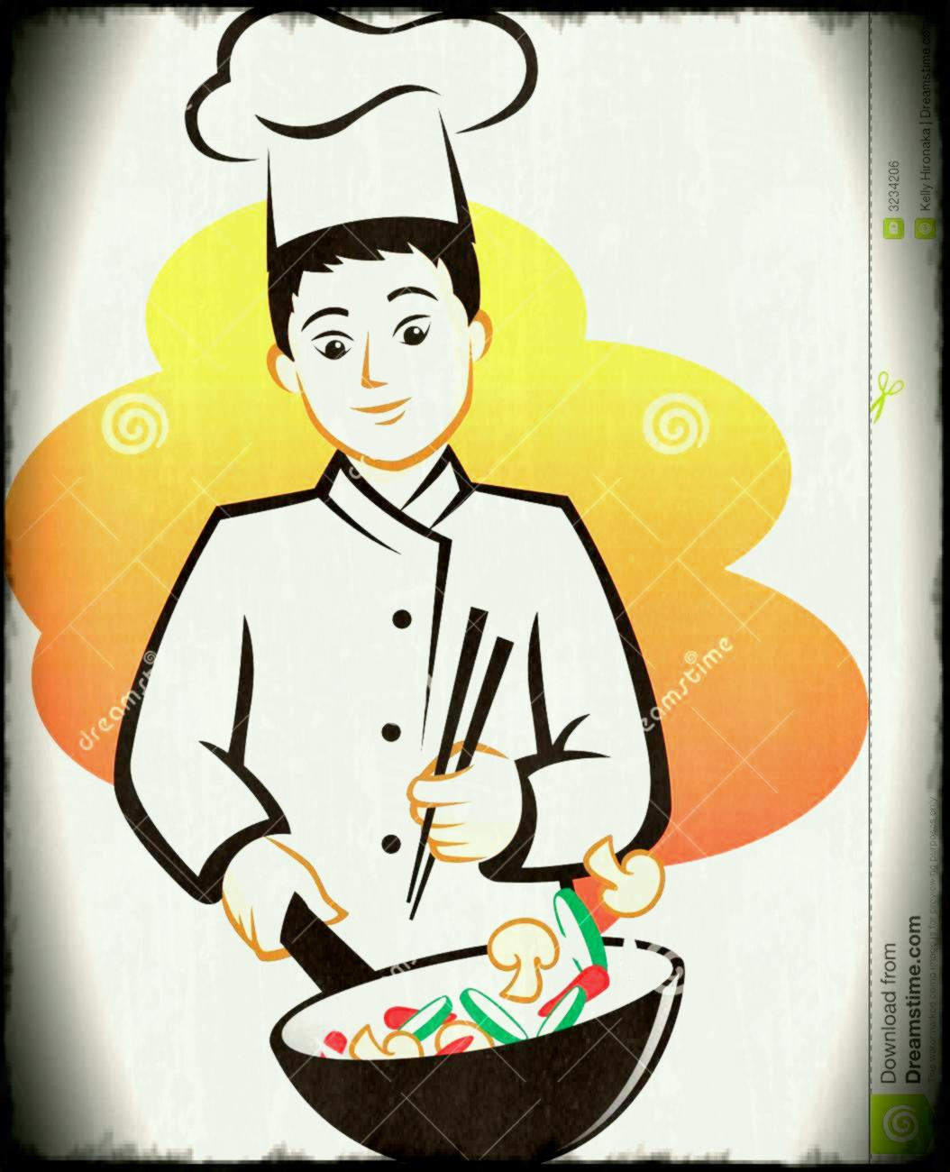 Chinese pencil and in. Chef clipart hotel chef