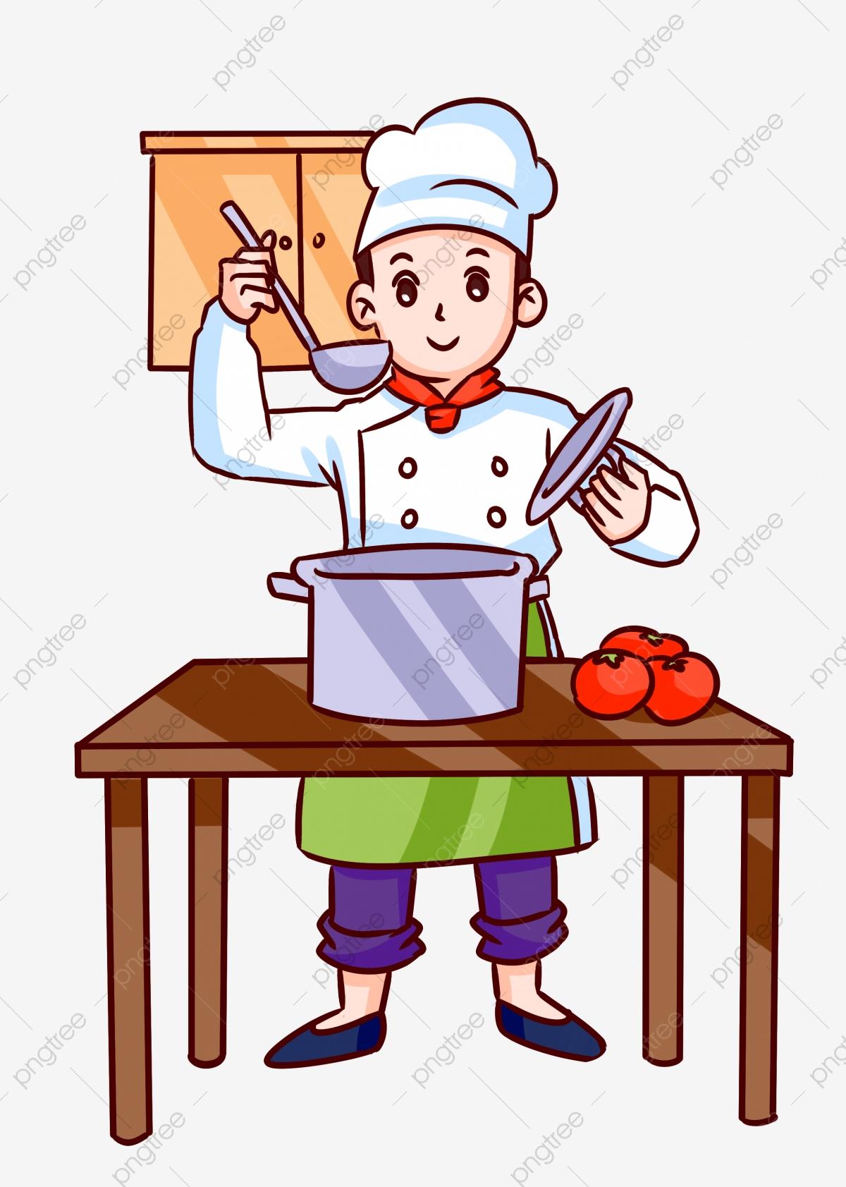 Food taste salty illustration. Chef clipart hotel chef