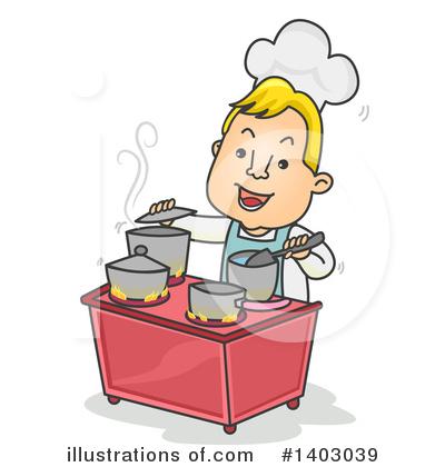 Chef clipart illustration. By bnp design studio