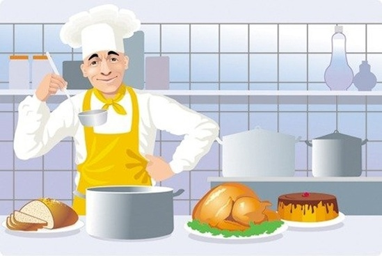 Cooking clipart cookery. Cook free vector download
