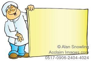 Chef clipart menu. Illustration of with board
