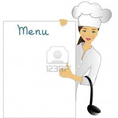 Idea for diy scrapbook. Chef clipart menu