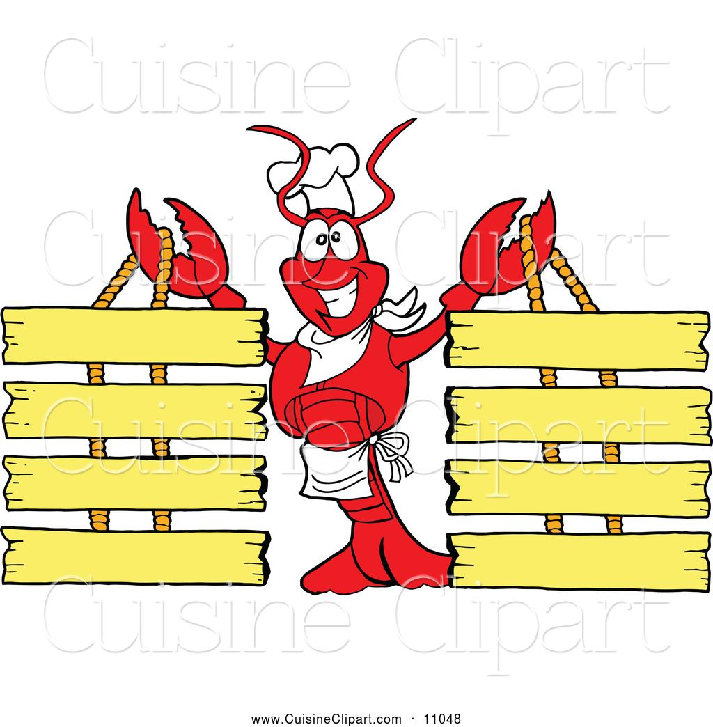 Chef clipart menu. Cuisine of a lobster