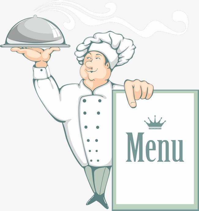 With cook cartoon png. Chef clipart menu