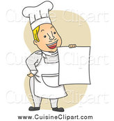 Royalty free stock cuisine. Chef clipart menu