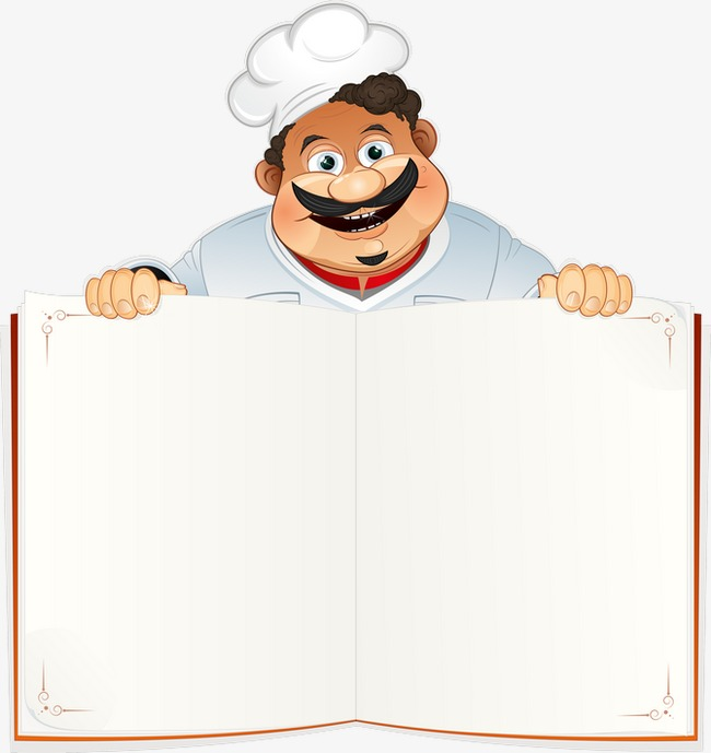 Chef clipart menu. Cartoon and cook png