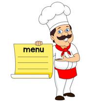 Free culinary clip art. Chef clipart menu