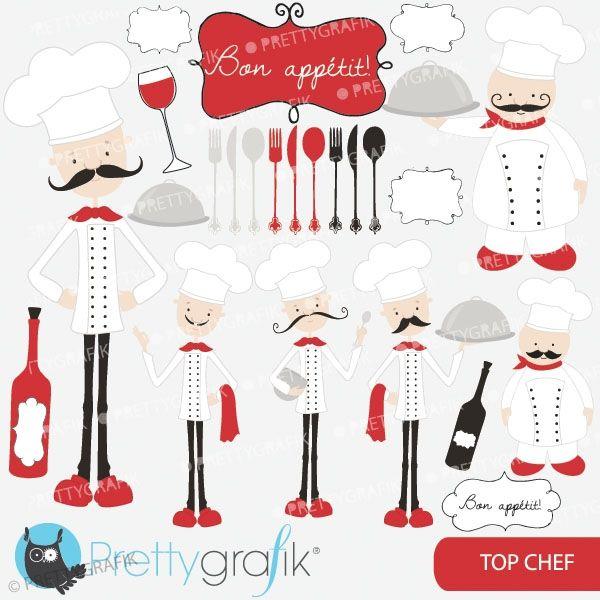 Chef clipart top chef. Kitchen perfect for cookbooks