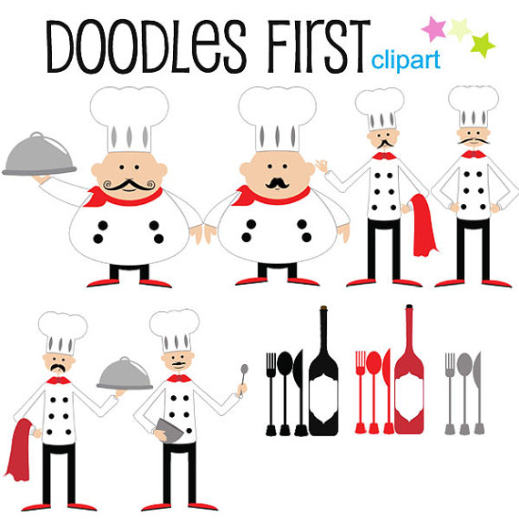 Chef clipart top chef. Digital clip art for