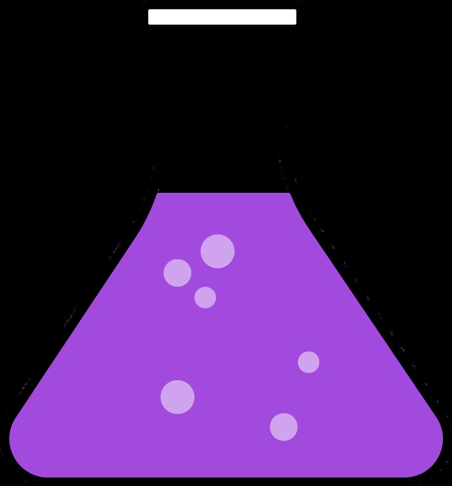 Beaker clipart chemistry. Purple science flask biochemistry