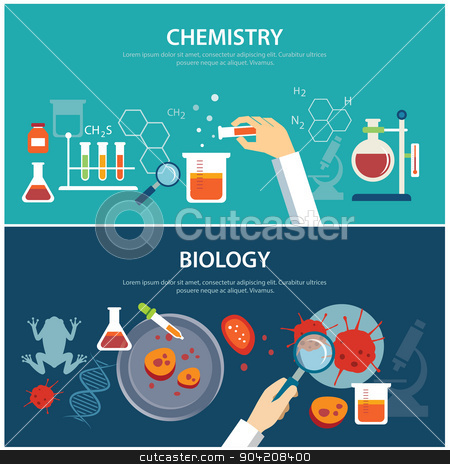 Chemistry and education concept. Chemical clipart biology
