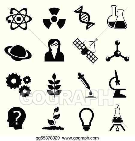 Chemical clipart biology. Vector art science physics