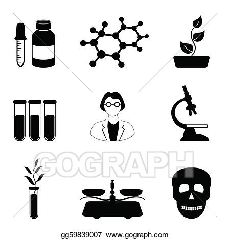 Vector illustration science and. Chemical clipart biology