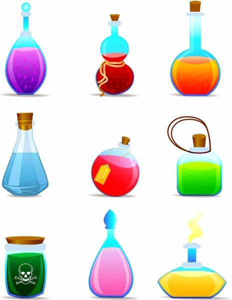 Chemical clipart bottle. Vector free download for