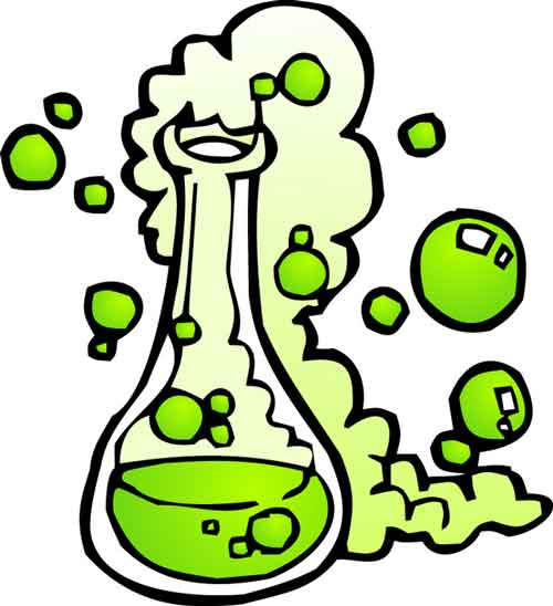 Reaction station . Chemical clipart cartoon