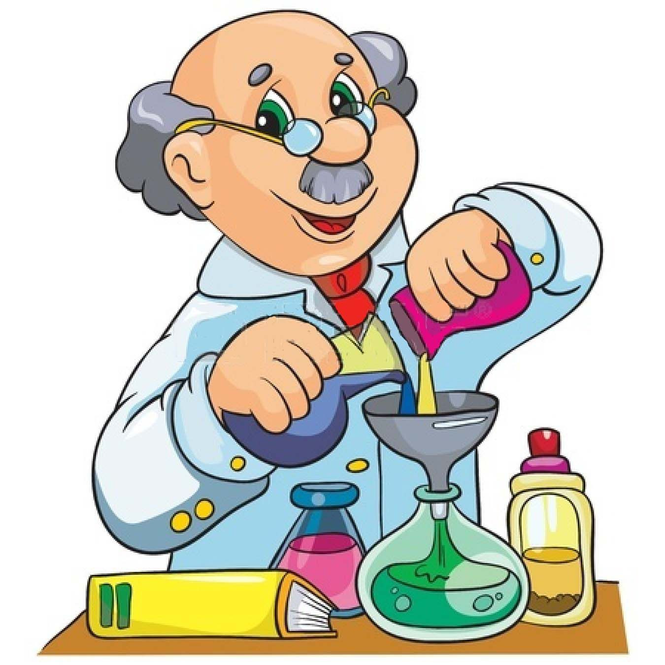 Professor cliparts science chemistry. Chemical clipart cartoon