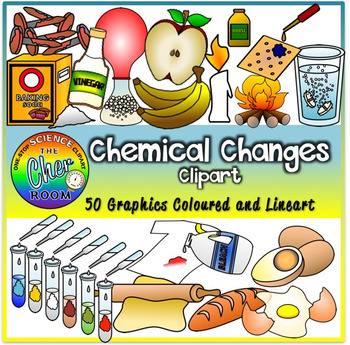 Changes by the cher. Chemical clipart chemical change