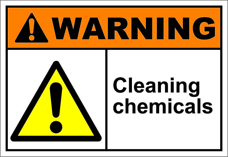 Chemical clipart chemical hazard. Cleaning chemicals safety signs