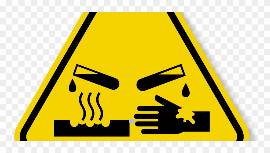 Chemical clipart chemical hazard. Corrosive symbol pinclipart