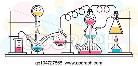 Chemical clipart chemical reaction. Vector stock illustration