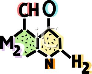 Chemistry clipart chemistry symbol. A chemical molecule