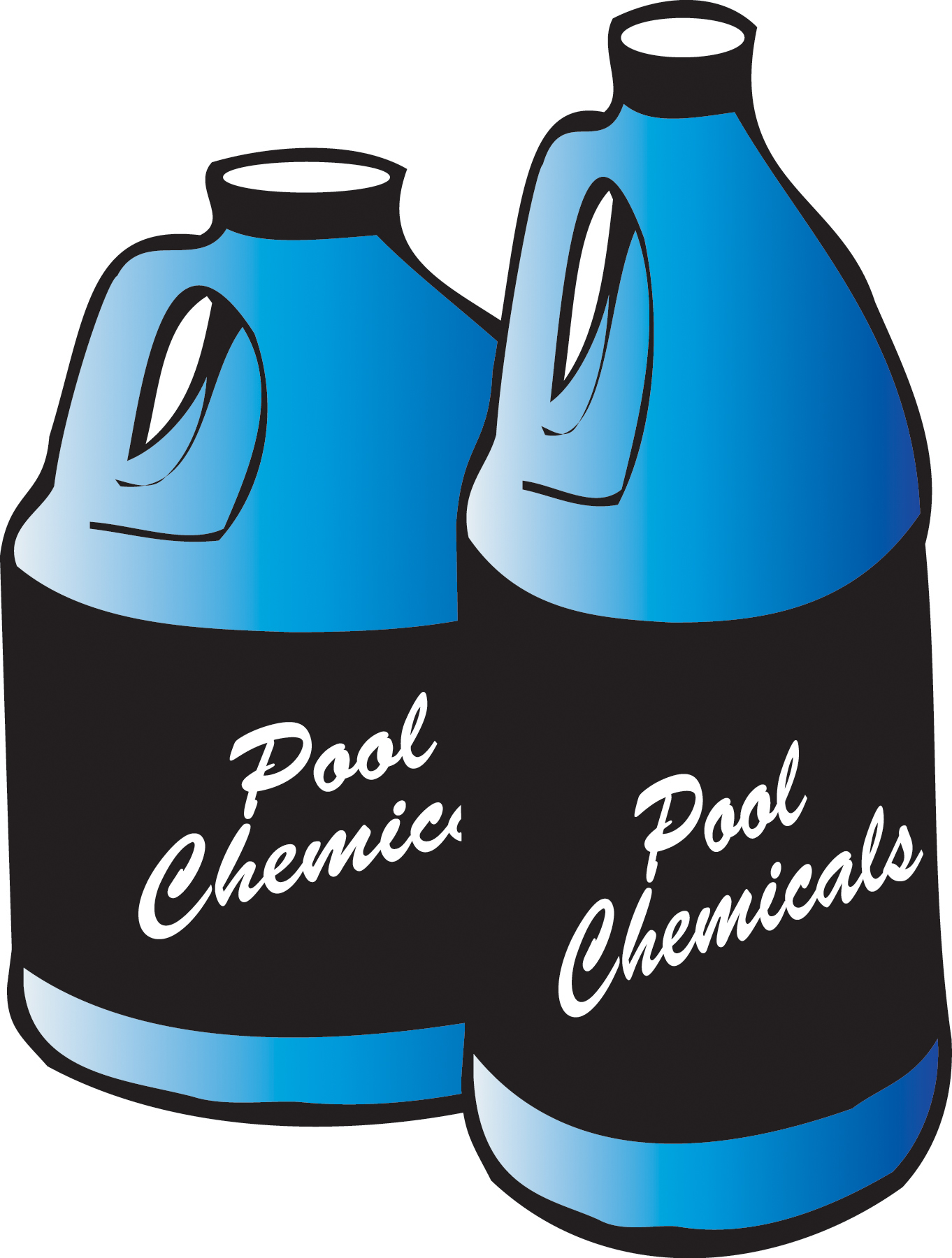 Pool safety checklist chemicals. Chemical clipart container