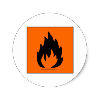 Chemical clipart dangerous chemical. Burn danger flammable stickers