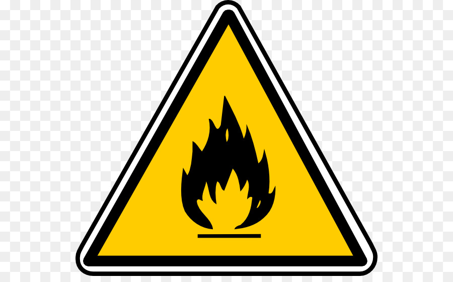 Combustibility and flammability warning. Chemical clipart flammable