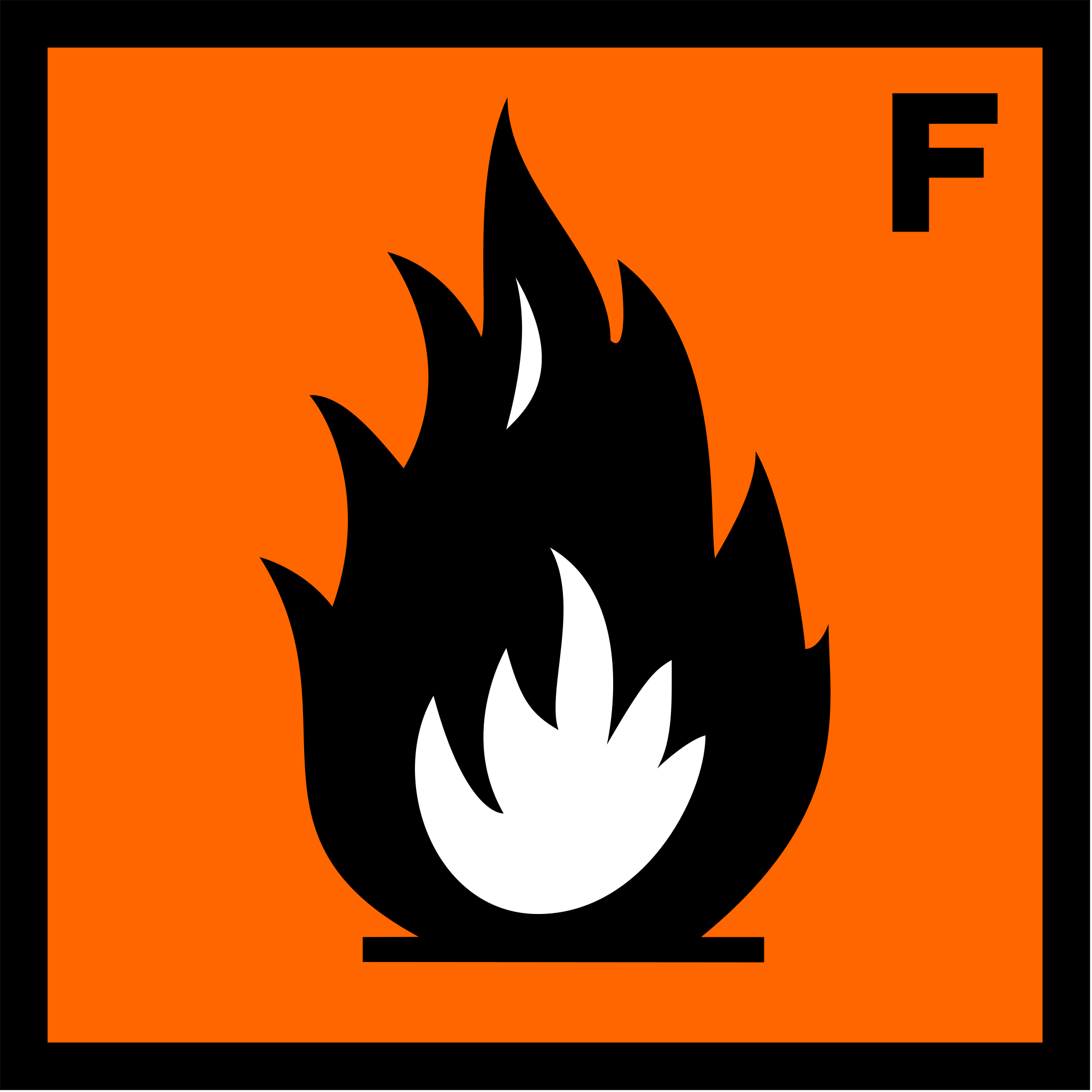 File ecb hazard symbol. Chemical clipart flammable